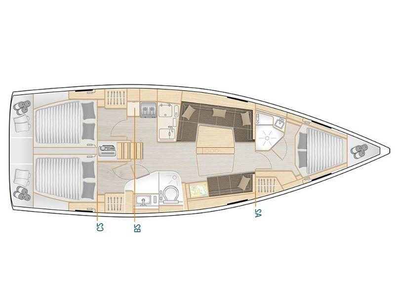 Hanse 418 lay out